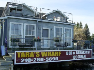 Tara's Wharf on Rainy Lake